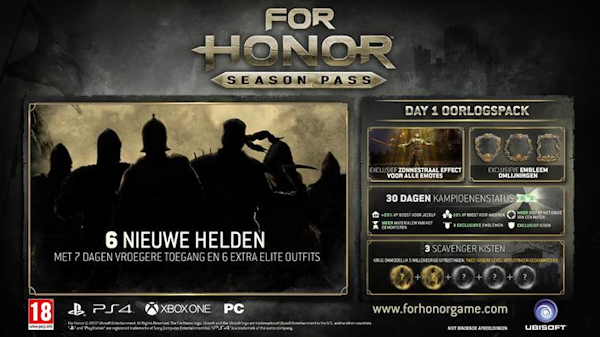 For Honor Season Pass onthuld