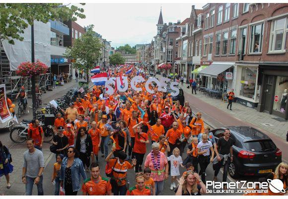 Foto's EK voetbal Vrouwen stoet Utrecht (Ned – Noorwegen) 16 juli 2017