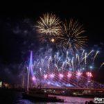 het nationale vuurwerk erasmusbrug Rotterdam 1 januari 2018