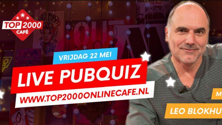 Live Pubquiz met Leo Blokhuis in het Top 2000 Online  Café