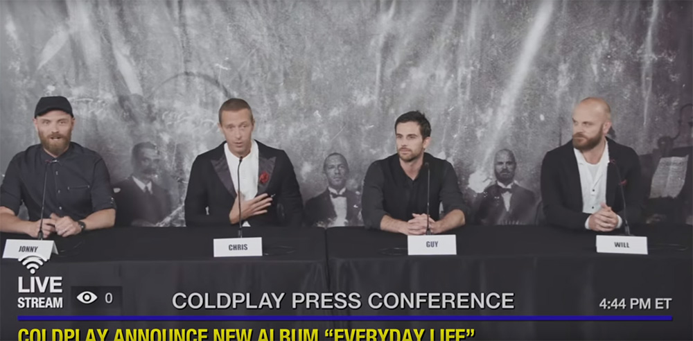 New:  Coldplay – 'Everyday Life'