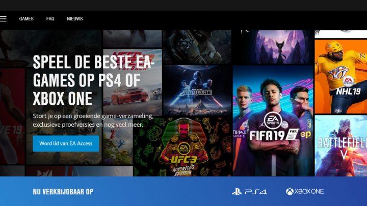 Speel games als eerste met EA Access op PlayStation®4, nu verkrijgbaar