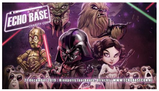 Beleef de wereld van Star Wars tijdens Echo Base Charity Con op 21 december in Utrecht