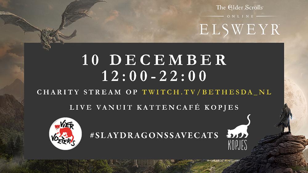 Streamers spelen The Elder Scrolls Online in een kattencafé om geld in te zamelen voor het goede doel
