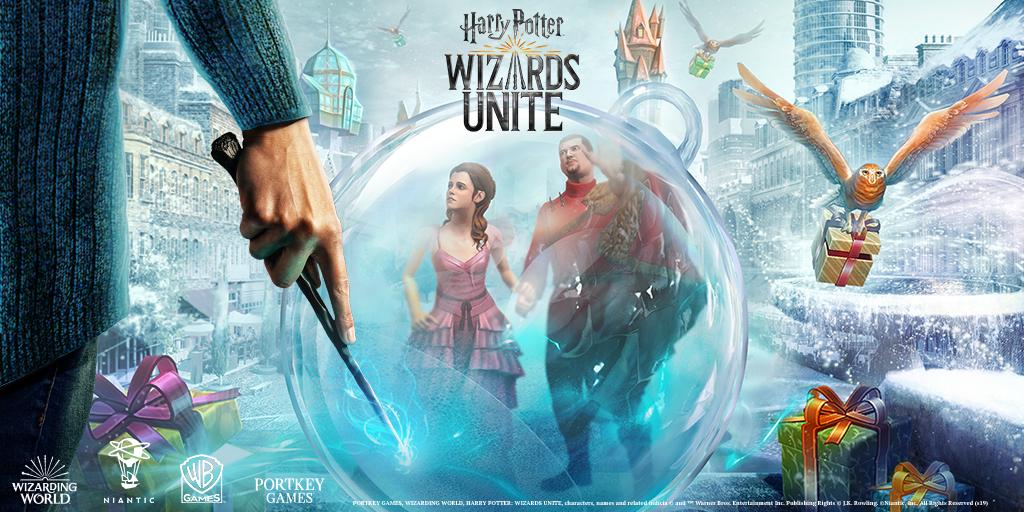 Vier kerst met Harry Potter Wizards Unite