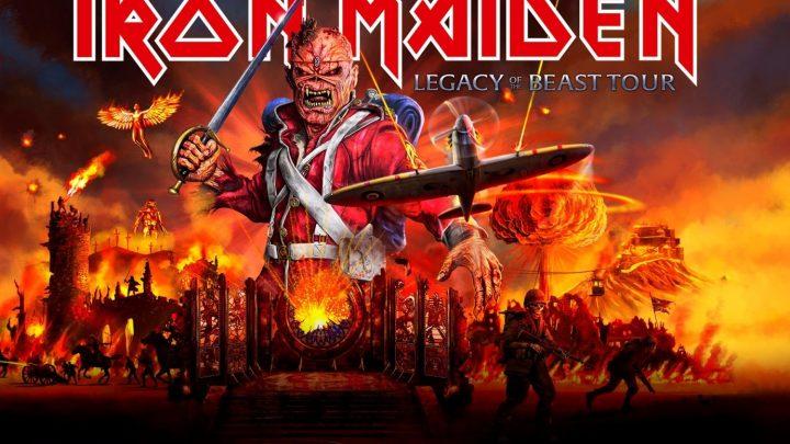 Iron Maiden met Legacy of the Beast Tour naar Evenemententerrein Weert op 9 juli