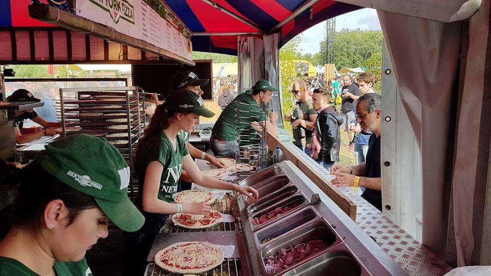 New York Pizza goes vegan op Lowlands