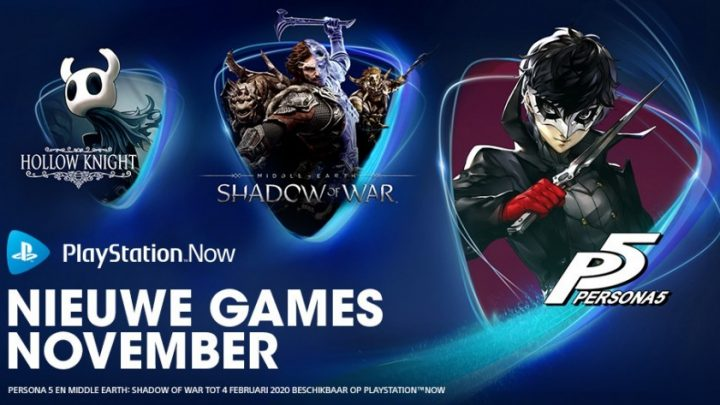 PlayStation Now™ voegt deze maand Persona 5, Middle-earth: Shadow of War en Hollow Knight toe aan streamingservice