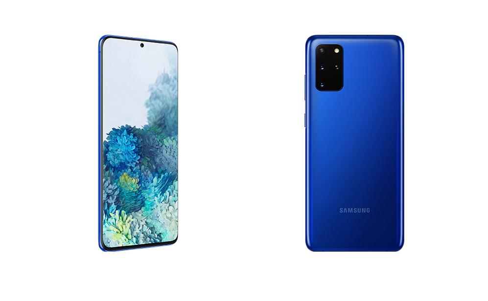 Samsung Galaxy S20+ nu verkrijgbaar in kleur Aura Blue