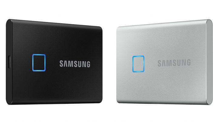 De Samsung Portable SSD T7 Touch zet nieuwe standaard in snelheid en beveiliging voor externe opslagapparaten