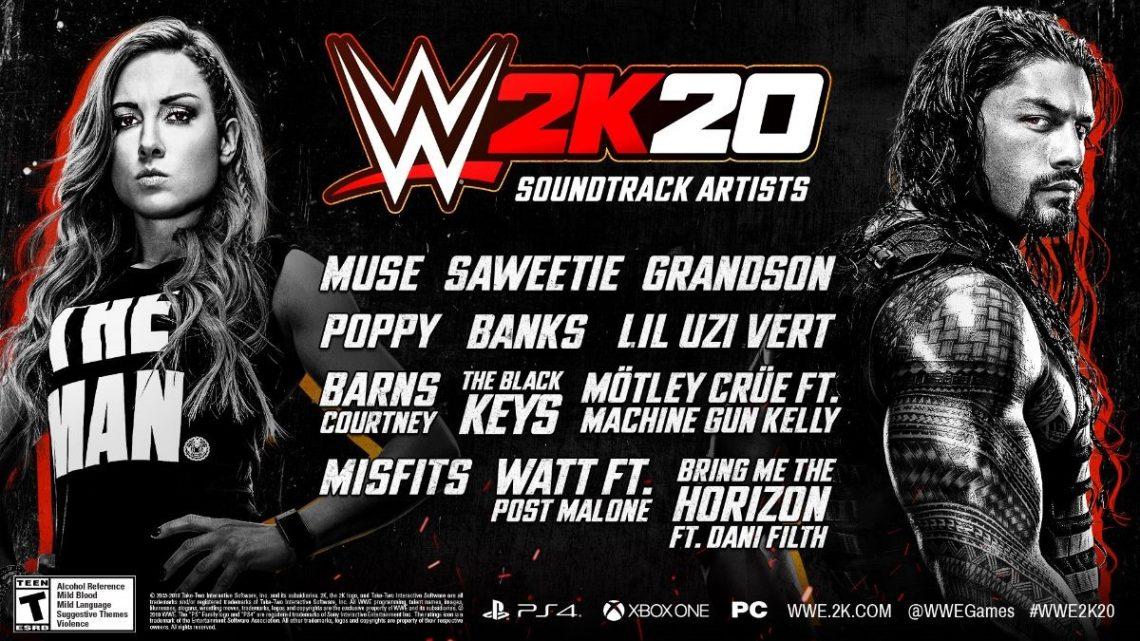 WWE 2K20 in-game soundtrack aangekondigd