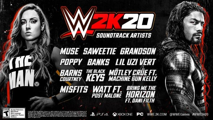 WWE 2K20 in-game soundtrack aangekondigd