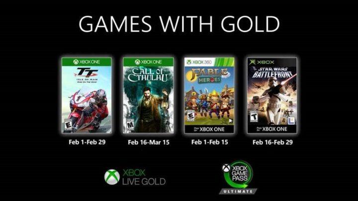 Nieuwe Games with Gold voor februari 2020