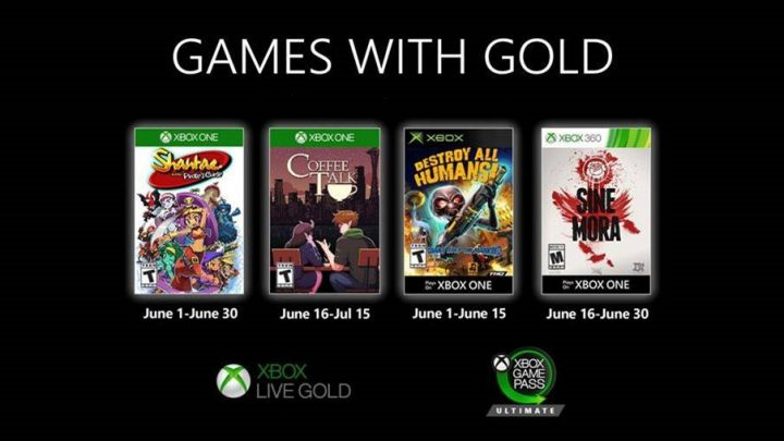Xbox Media Alert: Nieuwe Games with Gold voor juni 2020